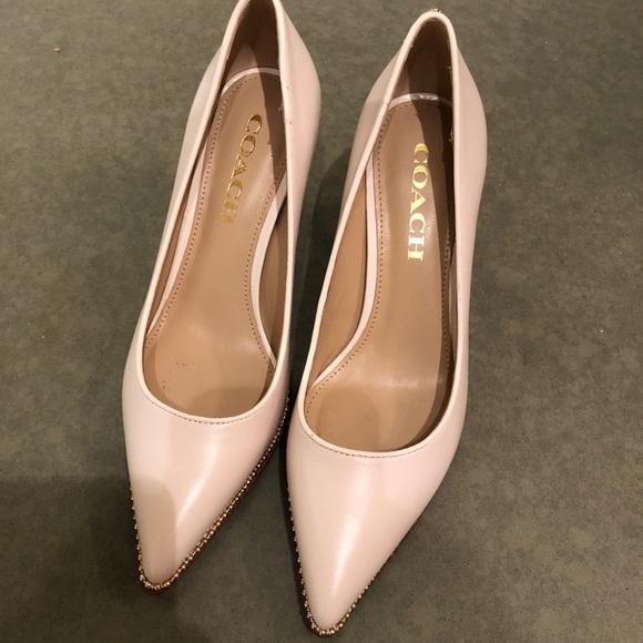 Coach Shoes | White Heels | Poshmark